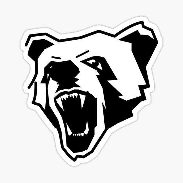 Ferocious bear pattern Sticker