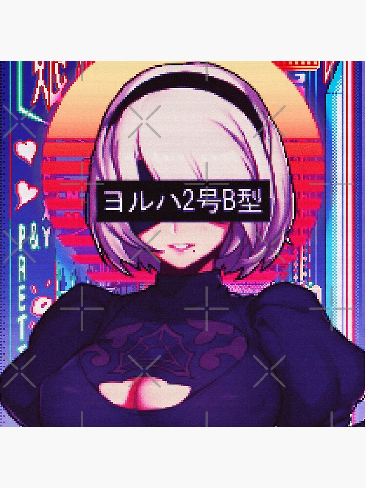 【Sadboys YoRHa No.2 Type B Vaporwave aesthetic.png】 by Waifu-Dope