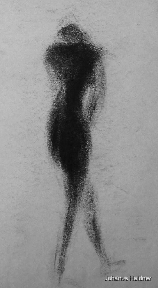 Female Nude Shadow Figure by Johanus Haidner