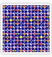 Checkered Nautical Signal Flags  Sticker