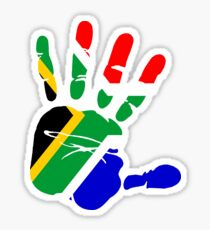 Flag of South Africa Handprint Sticker