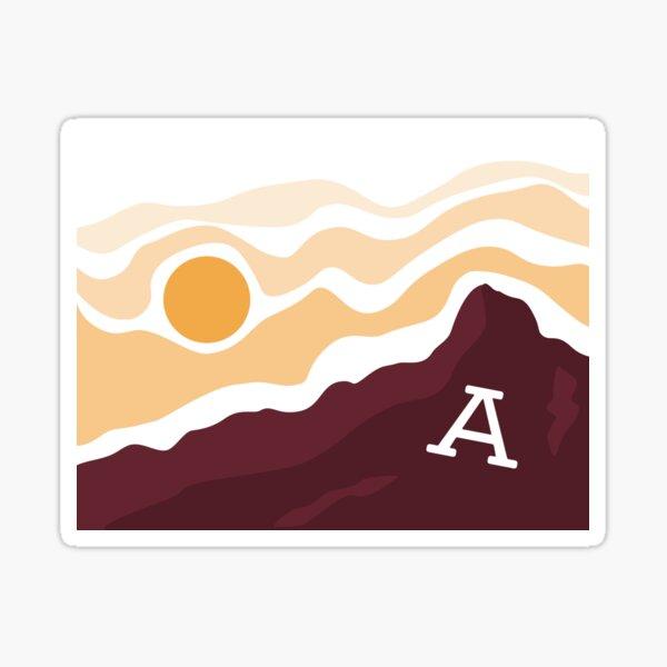 A mountain sunset Sticker