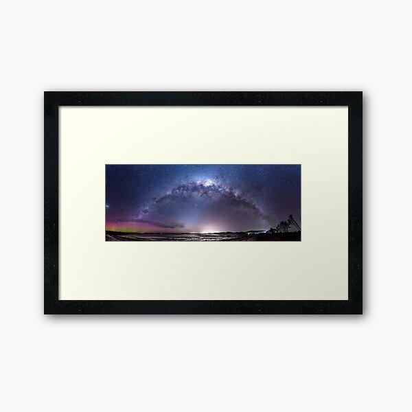 Aurora Australis and Milky Way Framed Art Print