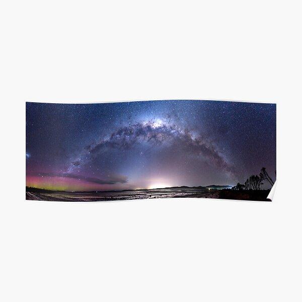 Aurora Australis and Milky Way Poster