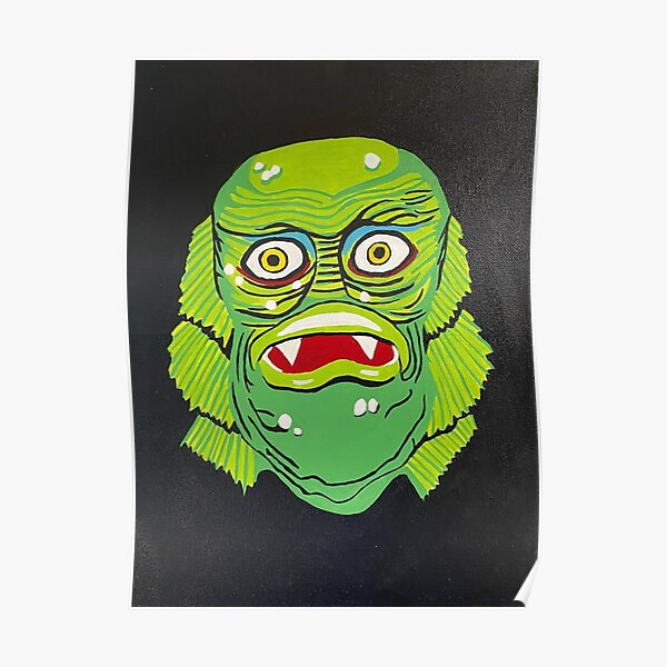 Retro Creature from the Black Lagoon mask Poster