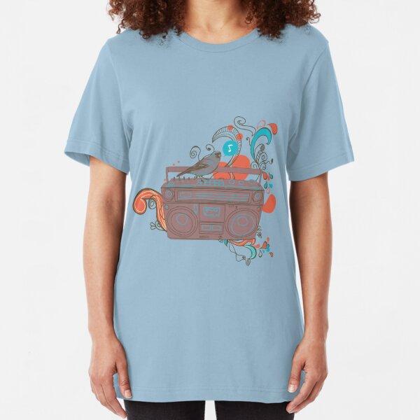 Retro Music Slim Fit T-Shirt