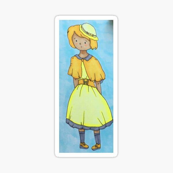 Girl in Yellow Sticker