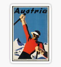 Vintage poster - Skiing Austria Sticker