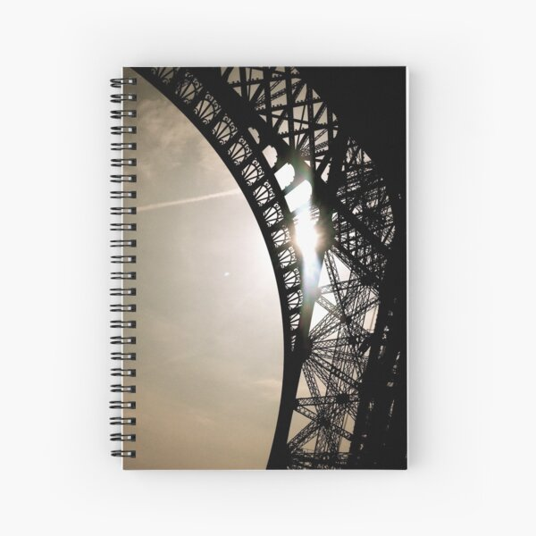 Morning Sun at the Eiffel Tower Spiral Notebook
