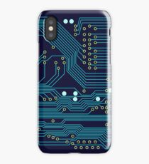 Dark Circuit Board iPhone Case