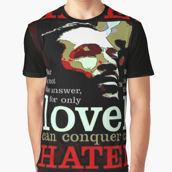 Marvin Says Love Can Conquer Hate Graphic T-Shirt