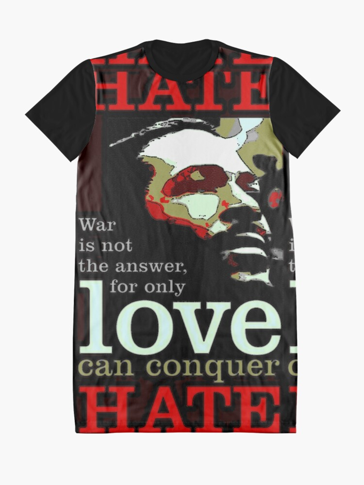Alternate view of Marvin Says Love Can Conquer Hate Graphic T-Shirt Dress