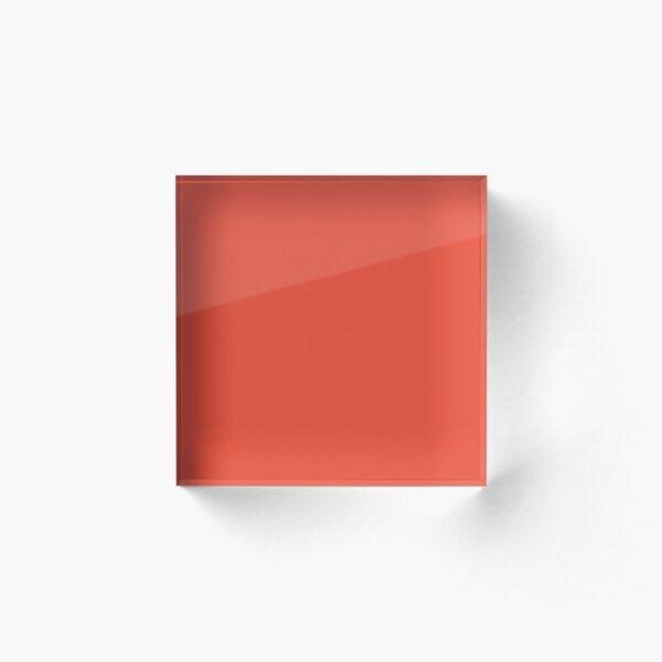 Pantone Mandarin Red pure clear colour Autumn/Winter 2020/2021 London Acrylic Block