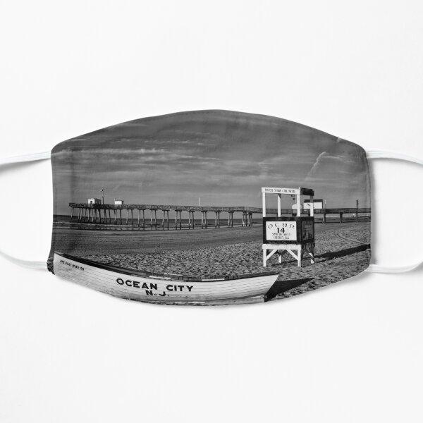 A Beach Scene In Black And White Mask