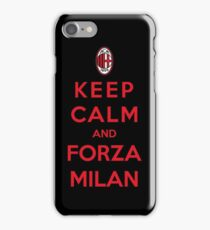 Keep Calm And Forza Milan iPhone Case/Skin