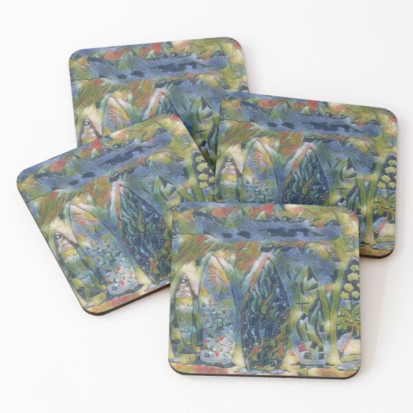 Surf Boards 6 designed and created by (c) Janet Watson Art xx Coasters (Set of 4)