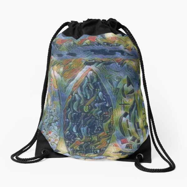 Surf Boards 6 designed and created by (c) Janet Watson Art xx Drawstring Bag