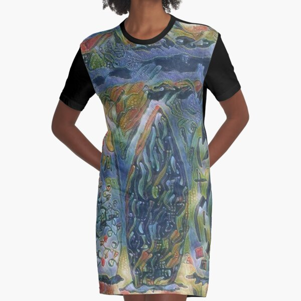 Surf Boards 6 designed and created by (c) Janet Watson Art xx Graphic T-Shirt Dress