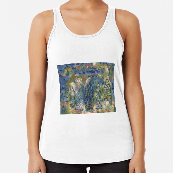 Surf Boards 6 designed and created by (c) Janet Watson Art xx Racerback Tank Top