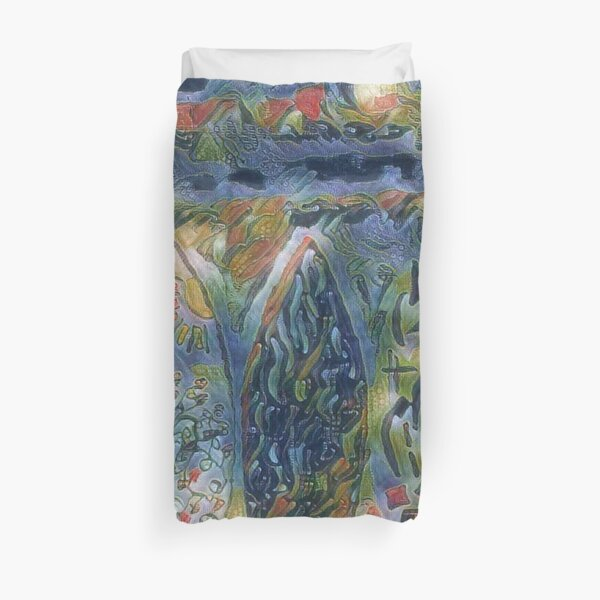 Surf Boards 6 designed and created by (c) Janet Watson Art xx Duvet Cover