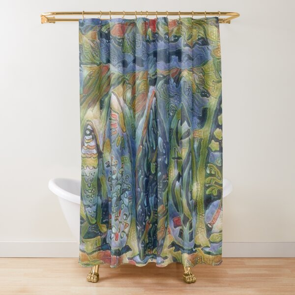 Surf Boards 6 designed and created by (c) Janet Watson Art xx Shower Curtain