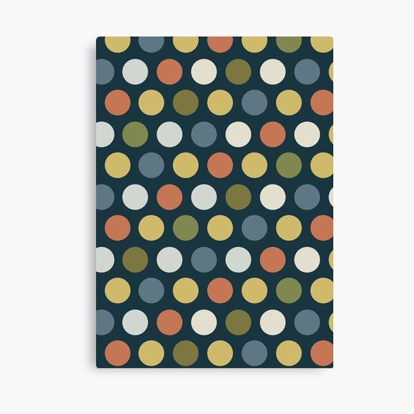 Dots on Dark Ground Canvas Print