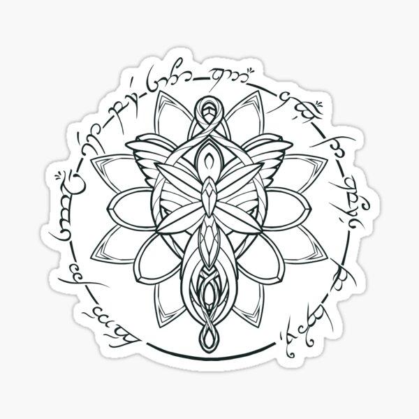 Minimalist Necklace of Elves Sticker
