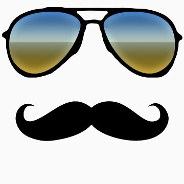 Aviator Sunglasses and Handlebar Mustache by CuteNComfy