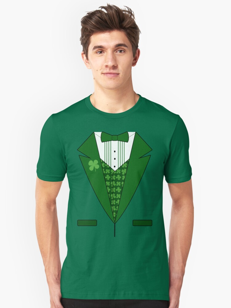 Irish Green Tuxedo T-Shirt by CuteNComfy