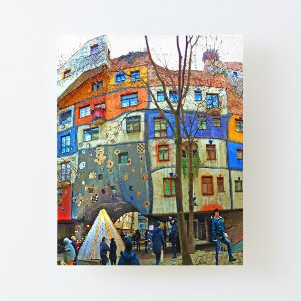Hundertwasser House Vienna Canvas Mounted Print