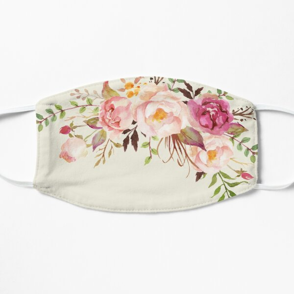 Romantic Watercolor Flower Bouquet Mask