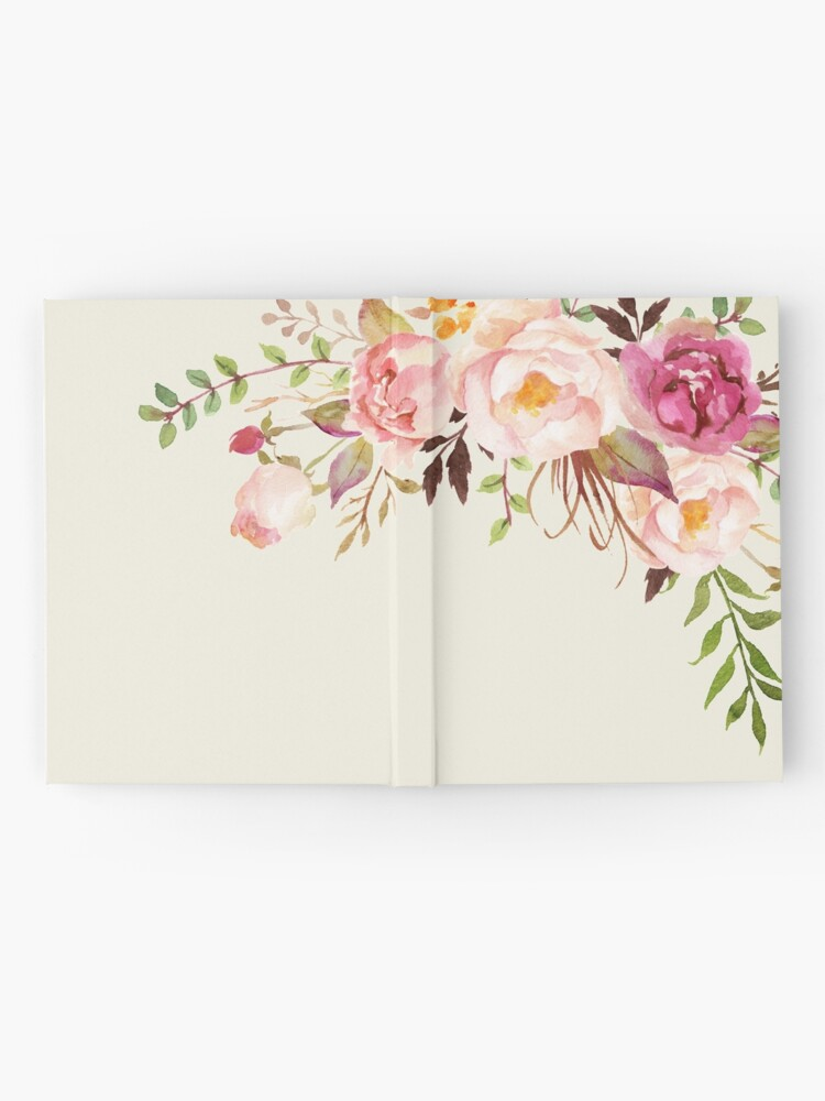 Alternate view of Romantic Watercolor Flower Bouquet Hardcover Journal