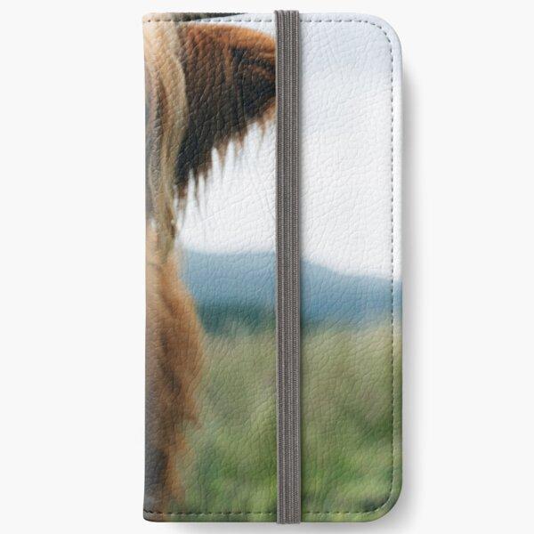 Scottish Highland Cow in Scotland iPhone Wallet