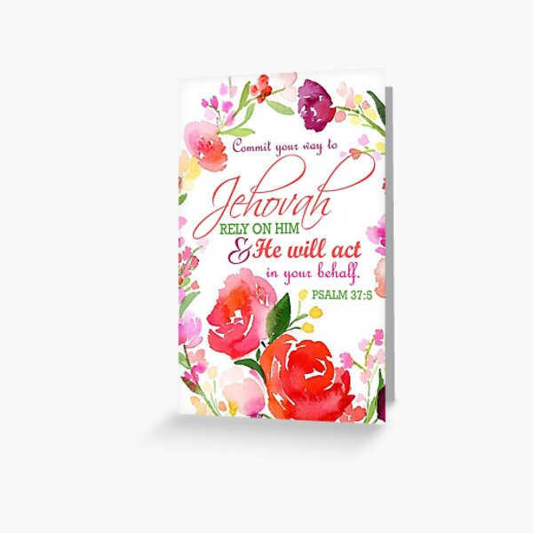 PSALM 37:5  Greeting Card