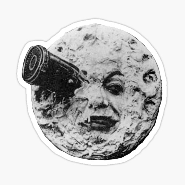 EARLY CINEMA. A Trip to the Moon. By Georges Melies. 1902. Sticker