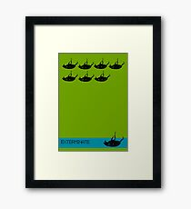 Exterminate poster green Framed Print