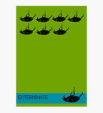 Exterminate poster green Photographic Print