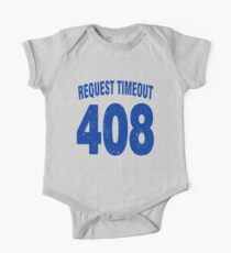 Team shirt - 408 Request Timeout, blue letters One Piece - Short Sleeve