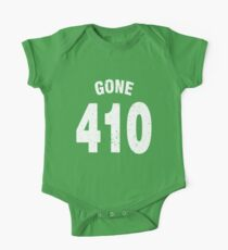 Team shirt - 410 Gone, white letters One Piece - Short Sleeve