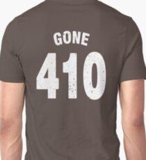 Team shirt - 410 Gone, white letters Unisex T-Shirt