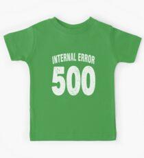 Team shirt - 500 Internal Error, white letters Kids Tee