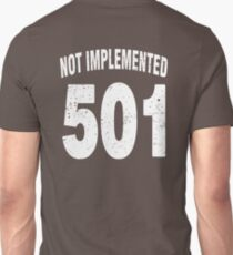 Team shirt - 501 Not Implemented, white letters T-Shirt