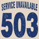 Team shirt - 503 Service Unavailable, blue letters by JRon