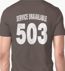 Team shirt - 503 Service Unavailable, white letters T-Shirt