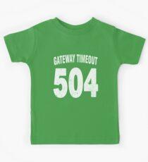 Team shirt - 504 Gateway Timeout, white letters Kids Tee