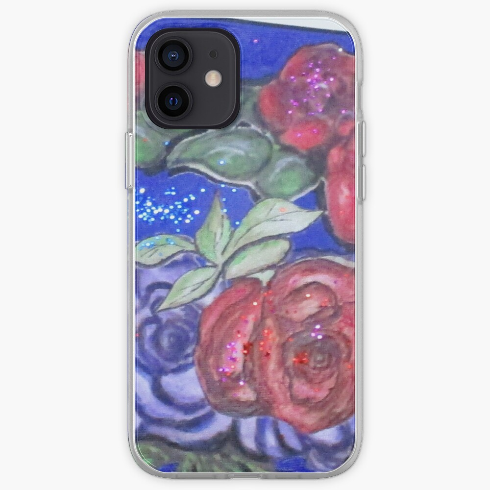 Roses And Blue iPhone Case & Cover