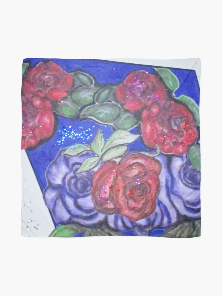Alternate view of Roses And Blue Scarf