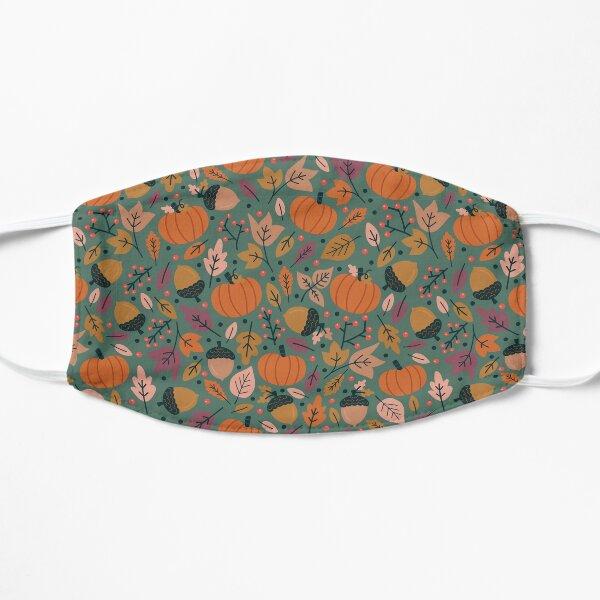 Fall Pumpkin Field Flat Mask
