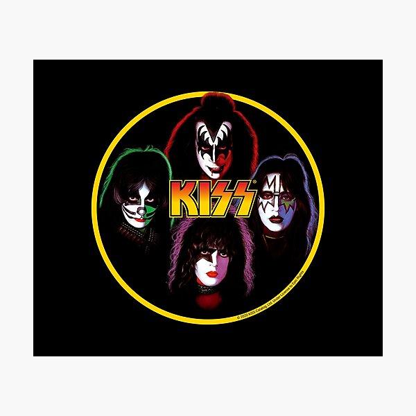 Kiss Band Rock Stars Photographic Print
