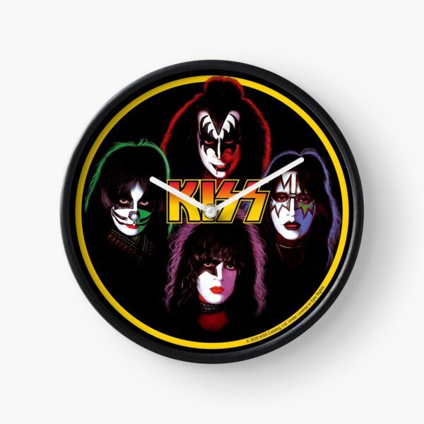 Kiss Band Rock Stars Clock
